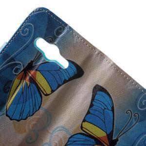 Motive pouzdro na mobil Samsung Galaxy Trend 2 Lite - modrý motýl - 6