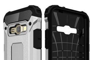 Armory odolný obal na mobil Samsung Galaxy J1 (2016) - stříbrný - 6