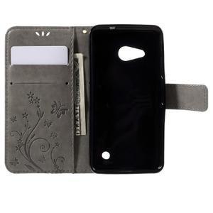 Butterfly koženkové pouzdro na Microsoft Lumia 550 - šedé - 6