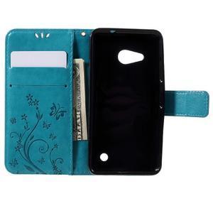 Butterfly koženkové pouzdro na Microsoft Lumia 550 - modré - 6