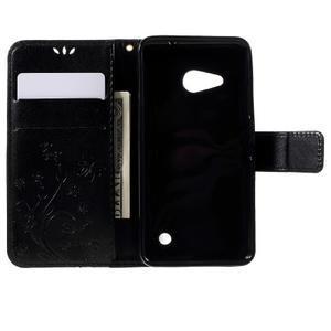 Butterfly koženkové pouzdro na Microsoft Lumia 550 - černé - 6
