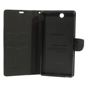 Diary PU kožené pouzdro na Sony Z Ultra - černé - 6