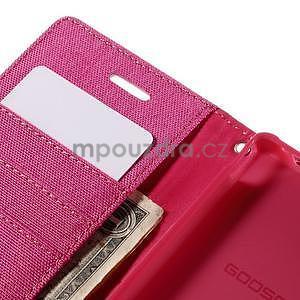 Canvas textilní/koženkové pouzdro na Sony Xperia M4 Aqua - rose - 6