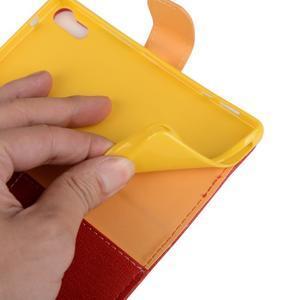 Knížkové pouzdro na mobil Lenovo Vibe Shot - červené - 6