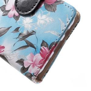 Koženkové pouzdro na mobil Samsung Galaxy J5 - modré pozadí - 6