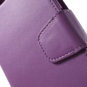 Diary PU kožené pouzdro na mobil Samsung Galaxy S6 -fialové - 6