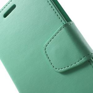 Diary PU kožené pouzdro na mobil Samsung Galaxy S6 -cyan - 6