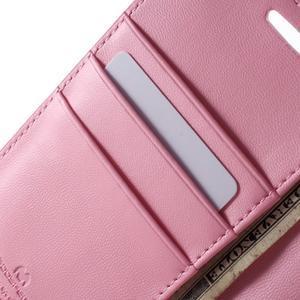 Diary PU kožené pouzdro na mobil Samsung Galaxy S6 -růžové - 6