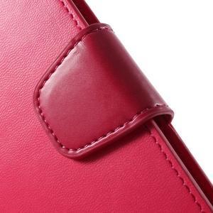 Diary PU kožené pouzdro na mobil Samsung Galaxy S6 -rose - 6