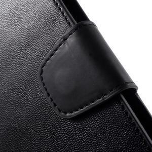 Diary PU kožené pouzdro na mobil Samsung Galaxy S6 -černé - 6