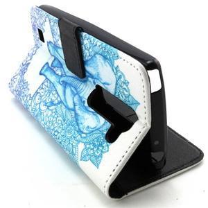 Peneženkové pouzdro na mobil LG G4c - slon - 6