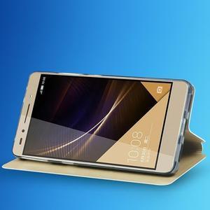 Elegantní PU kožené pouzdro na mobil Huawei Honor 7 - růžové - 6