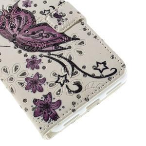 Peněženkové pouzdro s třpytivými flitry pro Huawei Honor 7 - nádherný motýl - 6