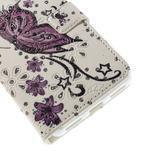 Peněženkové pouzdro s třpytivými flitry pro Huawei Honor 7 - nádherný motýl - 6/7