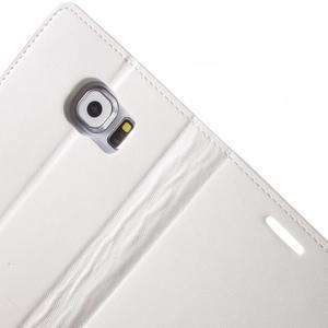 Diary PU kožené pouzdro na mobil Samsung Galaxy S6 - bílé - 6