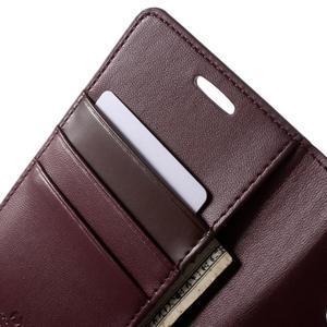 Diary PU kožené pouzdro na mobil Samsung Galaxy S6 - vínové - 6