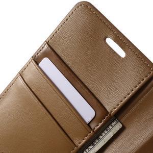 Diary PU kožené pouzdro na mobil Samsung Galaxy S6 - hnědé - 6
