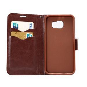 Cloth peněženkové pouzdro pro Samsung Galaxy S6 - černé - 6