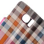 Módní stylové pouzdri na Samsung Galaxy S6 - rose - 6/7