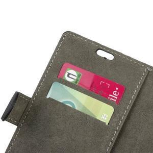 Peněženkové PU kožené pouzdro na mobil Honor 7 Lite - černé - 6