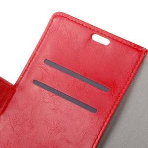 Horse PU kožené pouzdro na mobil Honor 7 Lite - červené - 6