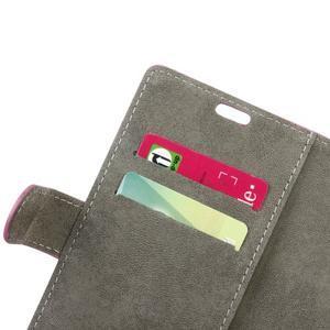 Peněženkové PU kožené pouzdro na mobil Honor 7 Lite - rose - 6
