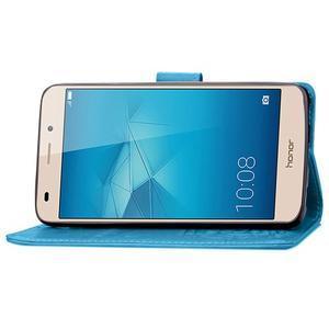 Buttefly PU kožené pouzdro na mobil Honor 7 Lite  - modré - 6