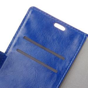 Horse PU kožené pouzdro na mobil Honor 7 Lite - modré - 6