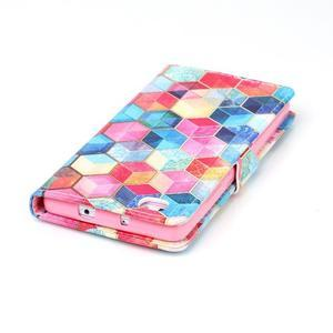 Pouzdro na mobil Huawei P8 Lite - barevné hexagony - 6