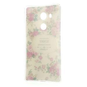 Softy gelový obal na mobil Huawei Mate 8 - květiny na bílém pozadí - 6