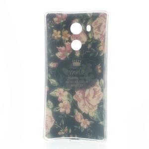 Softy gelový obal na mobil Huawei Mate 8 - květiny na černé pozadí - 6