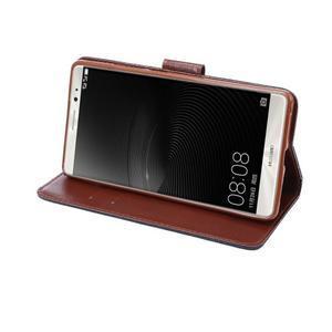 Jeans PU kožené puzdro na mobil Huawei Mate 8 - černomodré - 6