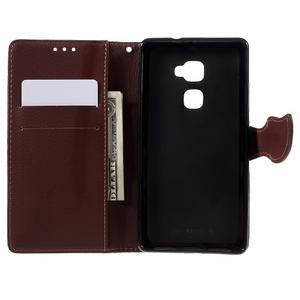 Knížkové PU kožené pouzdro na mobil Huawei Mate S - červené - 6