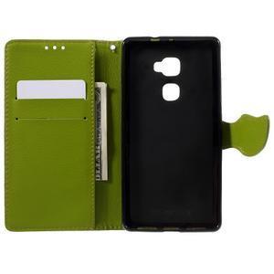 Knížkové PU kožené pouzdro na mobil Huawei Mate S - hnědé - 6