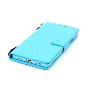 Magicfly knížkové pouzdro na telefon Huawei P9 Lite - světlemodré - 6