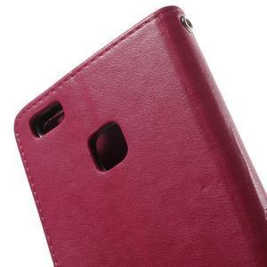 Cloverleaf peněženkové pouzdro s kamínky na Huawei P9 Lite - rose - 6