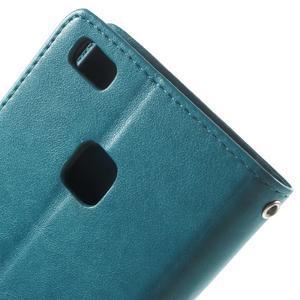 Cloverleaf peněženkové pouzdro s kamínky na Huawei P9 Lite - modré - 6