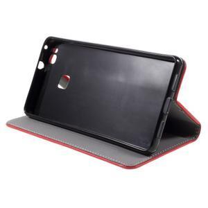 Klopové pouzdro na mobil Huawei P9 Lite - červené - 6