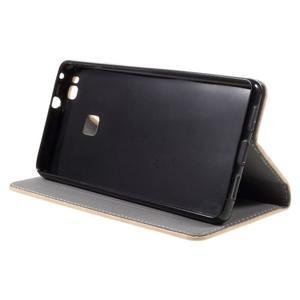 Klopové pouzdro na mobil Huawei P9 Lite - béžové - 6