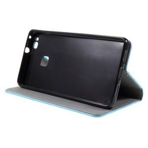 Klopové pouzdro na mobil Huawei P9 Lite - světlemodré - 6