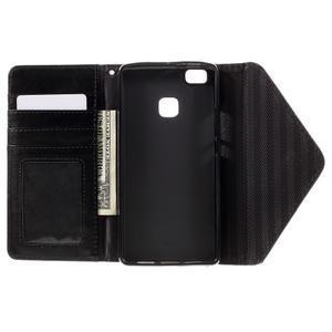 Peněženkové pouzdro na mobil Huawei P9 Lite - hnědé/černé - 6