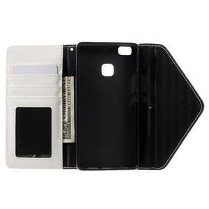 Peněženkové pouzdro na mobil Huawei P9 Lite - modrozelené/bílé - 6