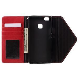 Peněženkové pouzdro na mobil Huawei P9 Lite - černé/červené - 6