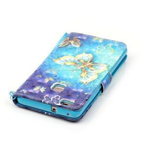 Knížkové PU kožené pouzdro na Huawei P9 Lite - kouzelný motýlek - 6