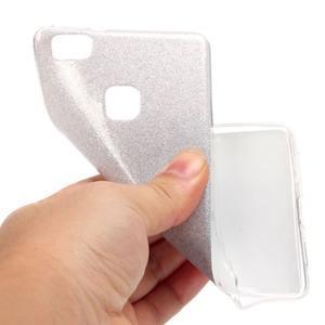 Gradient třpytivý gelový obal na Huawei P9 Lite - šedý - 6