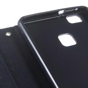 Diary PU kožené pouzdro na telefon Huawei P9 Lite - fialové - 6