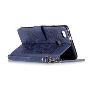 Dream PU kožené pouzdro s kamínky na Huawei P9 Lite - modré - 6