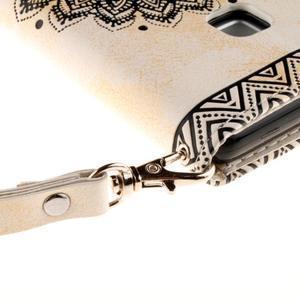Mandala PU kožené pouzdro na Huawei P9 Lite - béžové - 6