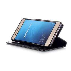 Magicfly knížkové pouzdro na telefon Huawei P9 Lite - černé - 6