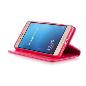 Magicfly knížkové pouzdro na telefon Huawei P9 Lite - rose - 6